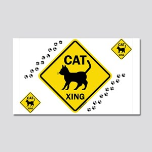 Cat X-ing (B) Car Magnet 20 x 12